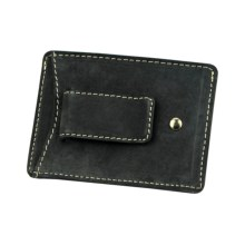 Timberland Buff Double Front Pocket Wallet - Nubuck in Black - Closeouts
