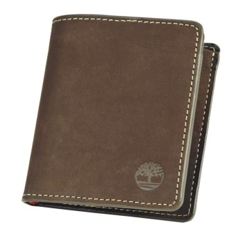Timberland Buff Nubuck Square Wallet in Brown