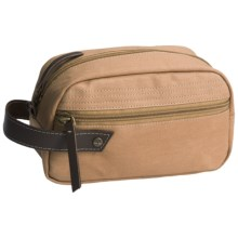 Timberland Canvas Travel Kit in Khaki - Closeouts