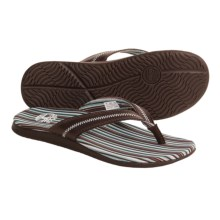 Timberland Cape Neddick Thong Sandals - Leather (For Women) in Brown/Blue Striped - Closeouts