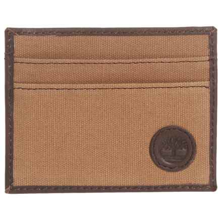 Timberland Card Case with Key Fob in Khaki - Closeouts