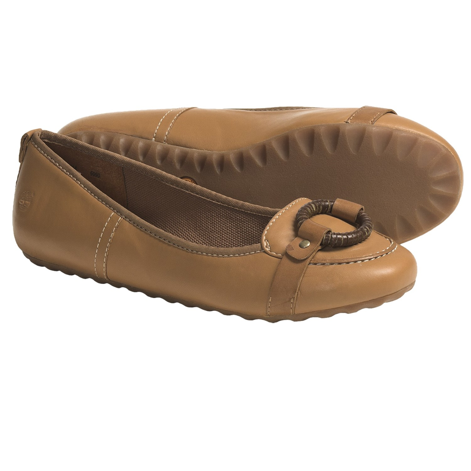 Timberland Carmona Shoes - Leather, Flats (For Women) in Tan