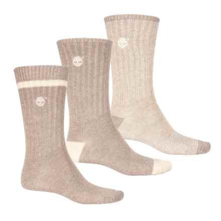 Timberland Casual Socks - 3-Pack, Crew (For Men) in Khaki/Dune - Closeouts