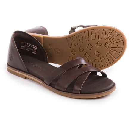 Timberland Caswell Closed-Back Sandals - Leather (For Women) in Dark Brown - Closeouts