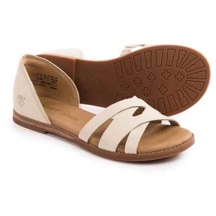 Timberland Caswell Closed-Back Sandals - Leather (For Women) in Off White - Closeouts