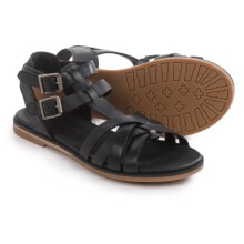 Timberland Caswell Fisherman Sandals - Leather (For Women) in Black - Closeouts