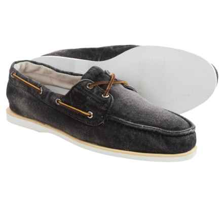Timberland Classic Denim Boat Shoes (For Men) in Black - Closeouts