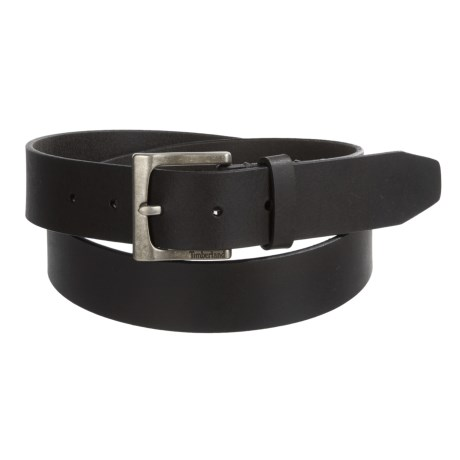 Timberland Classic Jean Belt - Leather (For Men) in Black