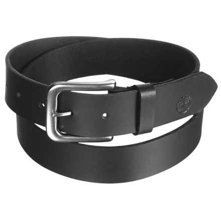 Timberland Classic Jean Belt - Leather (For Men) in Black - Closeouts