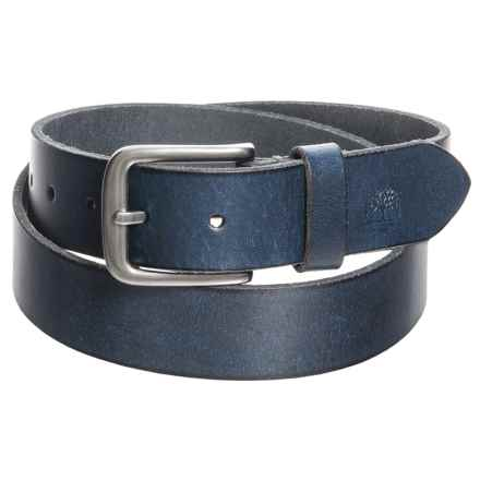 Timberland Classic Jean Belt - Leather (For Men) in Blue - Closeouts