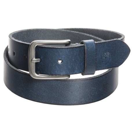 Timberland Classic Jean Belt - Leather (For Men) in Blue