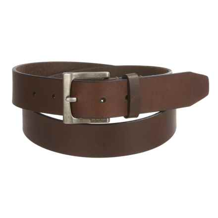 Timberland Classic Jean Belt - Leather (For Men) in Brown - Closeouts