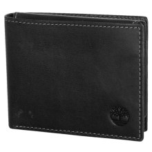 Timberland Cloudy Leather Passcase Wallet in Black - Closeouts