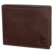 Timberland Cloudy Leather Passcase Wallet in Brown - Closeouts