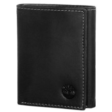 Timberland Cloudy Leather Trifold Wallet in Black - Closeouts