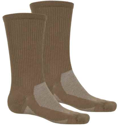 Timberland CoolMax® Hiking Socks - 2-Pack, Crew (For Men) in Bark/Brown - Closeouts