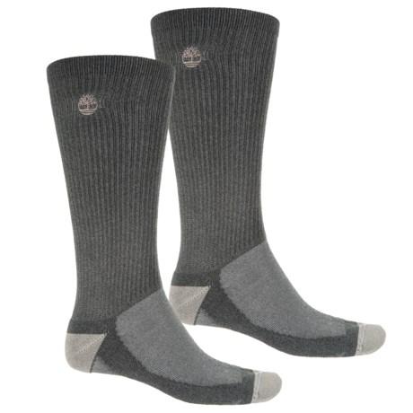 Timberland CoolMax® Hiking Socks - 2-Pack, Crew (For Men) in Grey