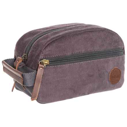 "Timberland Corduroy Travel Kit - 5x9x4"" in Grey - Closeouts"
