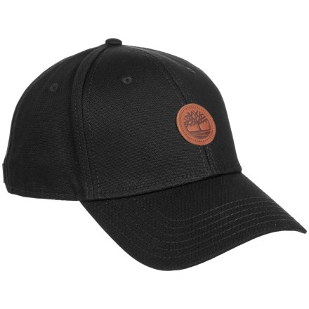 Timberland Cotton Baseball Cap (For Men) in Black - Closeouts e5b3e90311f4