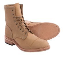 Timberland Coulter 9-Eye Boots - Leather (For Men) in Wheat Distressed - Closeouts