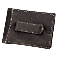 Timberland Cow Crunch Leather Flip Clip Wallet in Brown - Closeouts