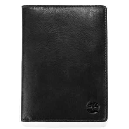 Timberland Cow Crunch Passport Wallet - Leather in Black - Closeouts