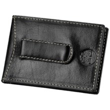Timberland Dakota Leather Flip Clip Wallet in Black - Closeouts