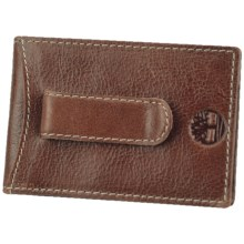 Timberland Dakota Leather Flip Clip Wallet in Brown - Closeouts
