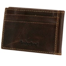 Timberland Delta Flip Clip Wallet - Leather in Brown - Closeouts