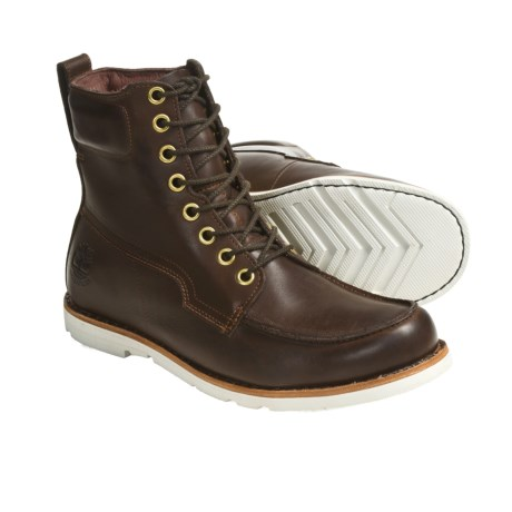 "Timberland Earthkeeper 2.0 Boots - Waterproof, 6"", Moc Toe (For Men) in Dark Brown"