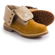 Timberland Earthkeepers Authentic Canvas Fold-Down Boots - Nubuck (For Women) in Wheat Nubuck - Closeouts