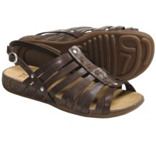 Timberland Earthkeepers Barestep Fisherman Sandals - Leather (For Women) in Dark Brown - Closeouts