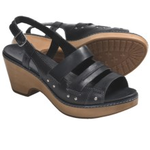 Timberland Earthkeepers Barnstable Woven Sandals - Leather, Slingback (For Women) in Black - Closeouts