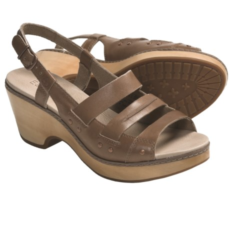 Timberland Earthkeepers Barnstable Woven Sandals - Leather, Slingback (For Women) in Mocha