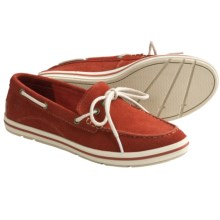 Timberland Earthkeepers Casco Bay Boat Shoes - Suede (For Women) in Dark Red Suede - Closeouts