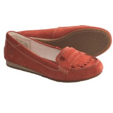 Timberland Earthkeepers Caska Kiltie Loafer Shoes - Suede (For Women) in Dark Red - Closeouts