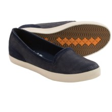 Timberland Earthkeepers Glastenbury Perforated Slip-On Shoes - Recycled Materials (For Women) in Navy - Closeouts