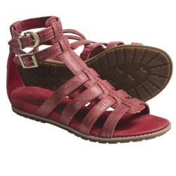 Timberland Earthkeepers Kennebunk Braided Gladiator Sandals - Leather (For Women) in Red