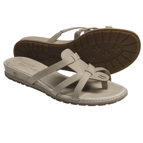 Timberland Earthkeepers Kennebunk Thong Sandals - Leather (For Women) in Twill