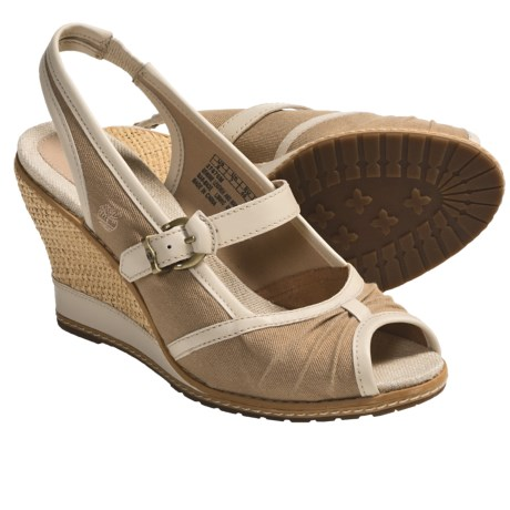 Timberland Earthkeepers Maeslin Sandals - Peep Toe, Sling-Back (For Women) in Tan