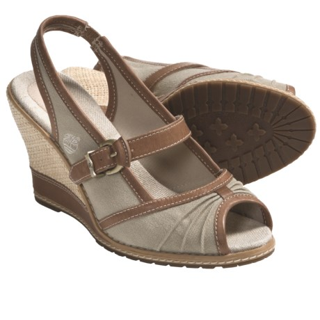 Timberland Earthkeepers Maeslin Sandals - Peep Toe, Sling-Back (For Women) in Twill