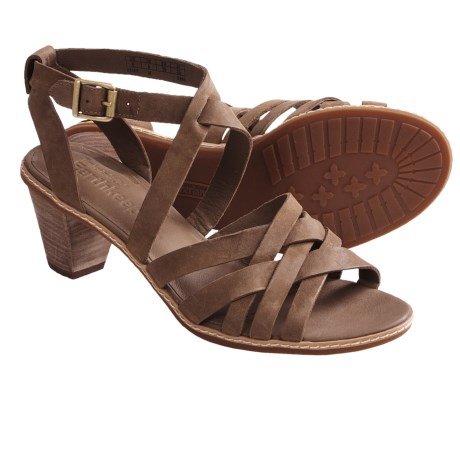 Timberland Earthkeepers Montvale Woven Sandals - Leather (For Women) in Dark Brown