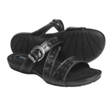 Timberland Earthkeepers Pleasant Bay Buckle Sandals - Leather, Recycled Materials (For Women) in Black - Closeouts