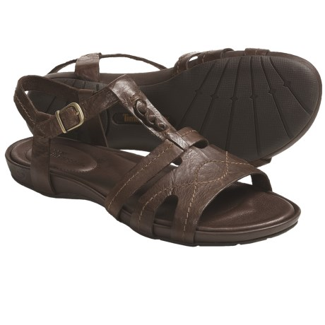 Timberland Earthkeepers Pleasant Bay Leather Sandals - Ankle Strap (For Women) in Brown