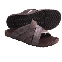Timberland Earthkeepers Rugged Escape Slide Sandals - Leather (For Men) in Dark Brown - Closeouts