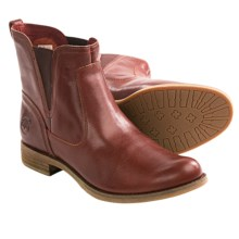 Timberland Earthkeepers Savin Hill Chelsea Boots - Ankle Pull Loop, Recycled Materials (For Women) in Cognac - Closeouts