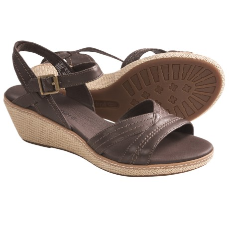 Timberland Earthkeepers Whittier Wedge Sandals (For Women) in Dark Brown