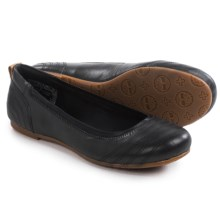 Timberland Ellsworth Ballerina Flats - Leather (For Women) in Black Full Grain - Closeouts