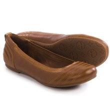 Timberland Ellsworth Ballerina Flats - Leather (For Women) in Brown Full Grain - Closeouts
