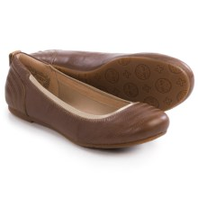 Timberland Ellsworth Ballerina Flats - Leather (For Women) in Tan Full Grain - Closeouts